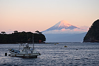 御浜岬朝焼け富士